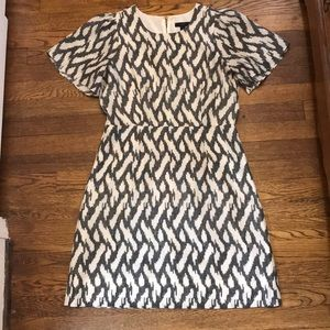 Beautiful J Crew silk flutter sleeve dress